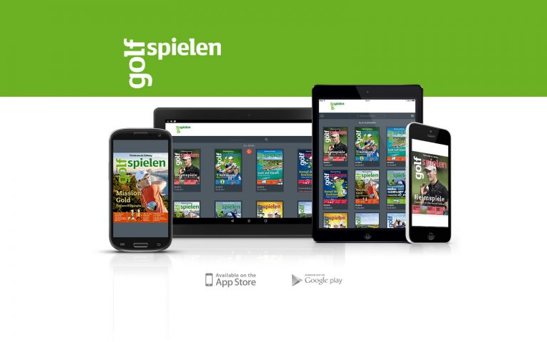 golf spielen- magazin in der pressmatrix-app