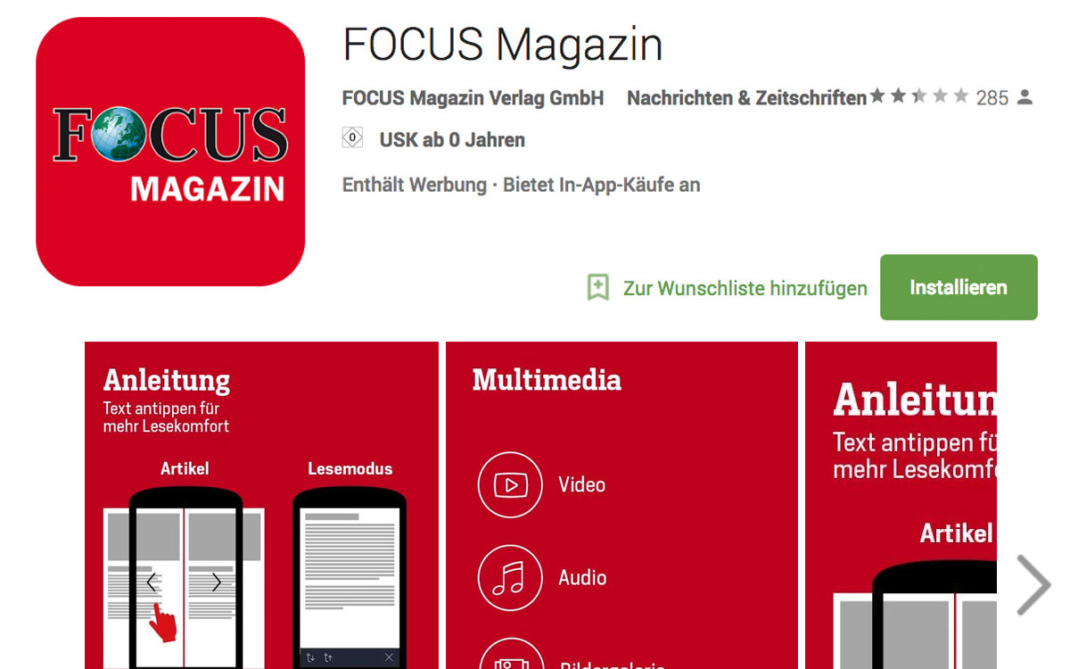 Focus Magazin Google Play
