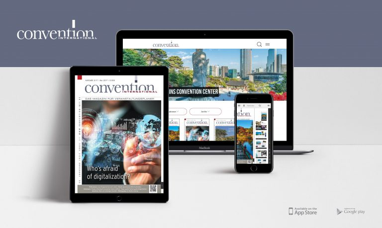 Convention International-App von PressMatrix